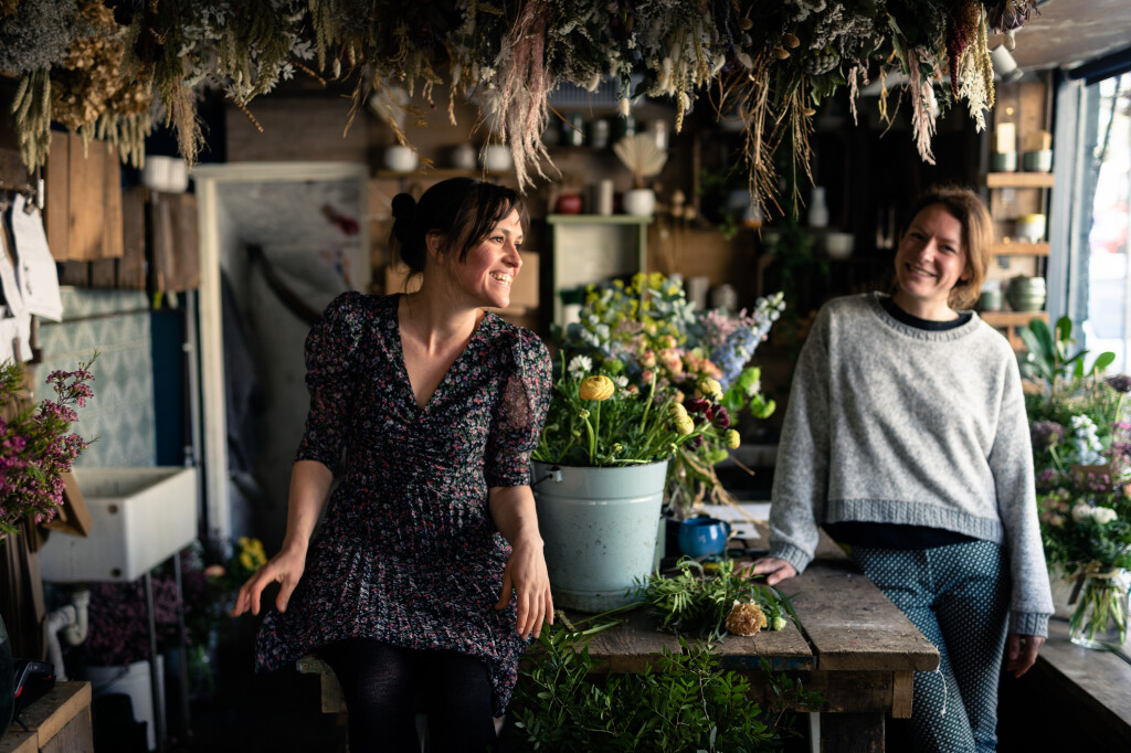 Sam and Maria at Roots Floral Designs